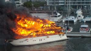 Safe Boating Tip # 10 - Burning boat